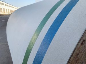 steel pipe bend with external coating